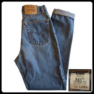 Vintage Levi's 521 Tapered Fit Women's 12 Long EVC